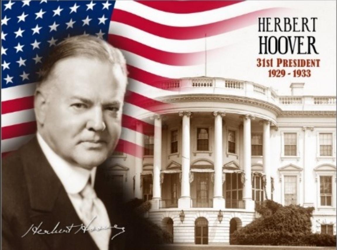 Président USA Herbert Hoover