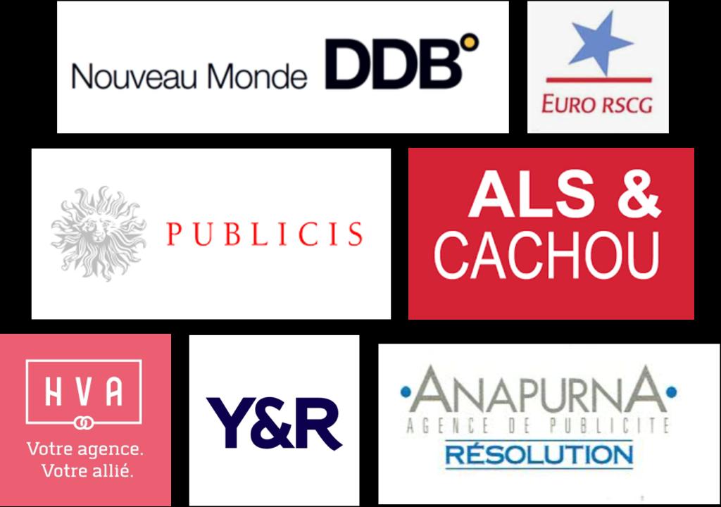 Logos agences de communication toulousaines années 1900-2000
